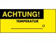 1: Wartungs-Etiketten (Achtung Temperatur)