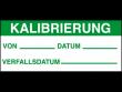 2: Kalibrierungs-Etiketten (Kalibrierung)