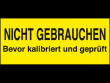 3: Kalibrierungs-Etiketten (Nicht gebrauchen ...)