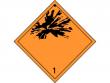 3: Gefahrgutschild Klasse 1 - Explosive Stoffe und Gegenstände mit Explosivstoff