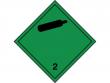 3: Gefahrgutschild Klasse 2.2 - Nicht entzündbare, nicht giftige, komprimierte Gase