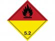 12: Gefahrgutschild Klasse 5.2 - Organische Peroxide