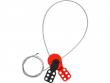 4: Safelex - universelle Kabelverriegelung mit beschichtetem Stahlkabel