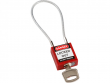 4: Kompaktes Sicherheitsschloss mit Kabelbügel (rot)