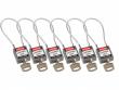 3: Kompakte Sicherheitsschlösser mit Kabelbügel (grau)
