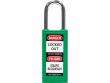 1: Grünes Sicherheitsschloss mit langem Nylongehäuse (834466)