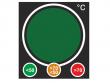 3: Reversibles Ampel Indikator Etikett (Abmessung: 48 mm x 52 mm)