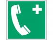 6: Notruftelefon (Rettungsschild / Erste-Hilfe-Schild gemäß ISO 7010, ASR A1.3)