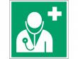 9: Arzt (Rettungsschild / Erste-Hilfe-Schild gemäß ISO 7010, ASR A1.3)