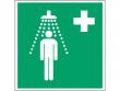 12: Notdusche (Rettungsschild / Erste-Hilfe-Schild gemäß ISO 7010, ASR A1.3)