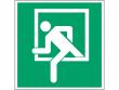 19: Notausstieg Fenster (Rettungsschild / Erste-Hilfe-Schild gemäß ISO 7010, ASR A1.3)