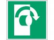 18: Im Uhrzeigersinn drehen (Rettungsschild / Erste-Hilfe-Schild gemäß ISO 7010, ASR A1.3)
