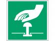 23: Notaus-Schalter (Rettungsschild / Erste-Hilfe-Schild gemäß ISO 7010, ASR A1.3)