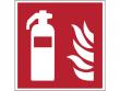 1: Feuerlöscher (Brandschutzschild gemäß DIN EN ISO 7010, ASR A1.3)