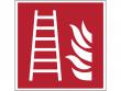 3: Feuerleiter (Brandschutzschild gemäß DIN EN ISO 7010, ASR A1.3)