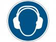 3: Gebotsschild - Gehörschutz benutzen (gemäß DIN EN ISO 7010, ASR A1.3)