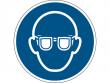 2: Gebotsschild - Augenschutz benutzen (gemäß DIN EN ISO 7010, ASR A1.3)