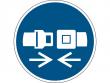 20: Gebotsschild - Rückhaltesystem benutzen (gemäß DIN EN ISO 7010, ASR A1.3)