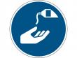22: Gebotsschild - Hautschutzmittel benutzen (gemäß DIN EN ISO 7010, ASR A1.3)