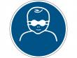 25: Gebotsschild - Kleinkinder durch weitgehend lichtundurchlässige Augenabschirmung schützen (gemäß DIN EN ISO 7010, ASR A1.3)