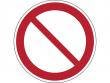 1: Verbotsschild - Allgemeines Verbotszeichen (gemäß DIN EN ISO 7010, ASR A1.3)