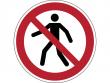 4: Verbotsschild - Für Fußgänger verboten (gemäß DIN EN ISO 7010, ASR A1.3)