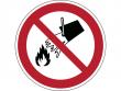 10: Verbotsschild - Mit Wasser löschen verboten (gemäß DIN EN ISO 7010, ASR A1.3)