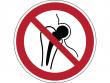 13: Verbotsschild - Kein Zutritt für Personen mit Implantaten aus Metall (gemäß DIN EN ISO 7010, ASR A1.3)