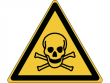 16: Warnschild - Warnung vor giftigen Stoffen (gemäß DIN EN ISO 7010, ASR A1.3)