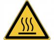 17: Warnschild - Warnung vor heißer Oberfläche (gemäß DIN EN ISO 7010, ASR A1.3)