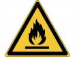 21: Warnschild - Warnung vor feuergefährlichen Stoffen (gemäß DIN EN ISO 7010, ASR A1.3)