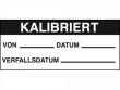 1: Kalibrierungs-Etiketten (Kalibriert)