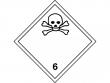 13: Gefahrgutschild Klasse 6.1 - Giftige Stoffe