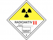 16: Gefahrgutschild Klasse 7B - Radioaktive Stoffe (Kategorie II)