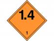 2: Gefahrgutschild Unterklasse 1.4 - Explosive Stoffe und Gegenstände mit Explosivstoff