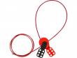 2: Safelex - universelle Kabelverriegelung mit Nylonkabel