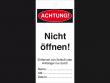 1: Anhänger zur Maschinenkennzeichnung - Nicht öffnen!