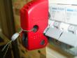 6: Verriegelungssystem für Kippsicherungen gesichert mit Plombendraht