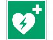 10: Defibrillator (Rettungsschild / Erste-Hilfe-Schild gemäß ISO 7010, ASR A1.3)