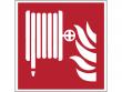2: Löschschlauch (Brandschutzschild gemäß DIN EN ISO 7010, ASR A1.3)