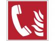 6: Brandmeldetelefon (Brandschutzschild gemäß DIN EN ISO 7010, ASR A1.3)
