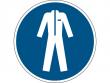 10: Gebotsschild - Schutzkleidung benutzen (gemäß DIN EN ISO 7010, ASR A1.3)