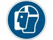 13: Gebotsschild - Gesichtsschutz benutzen (gemäß DIN EN ISO 7010, ASR A1.3)