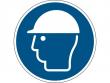 14: Gebotsschild - Kopfschutz benutzen (gemäß DIN EN ISO 7010, ASR A1.3)