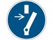 21: Gebotsschild - Vor Wartung oder Reparatur freischalten (gemäß DIN EN ISO 7010, ASR A1.3)
