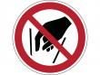 14: Verbotsschild - Hineinfassen verboten (gemäß DIN EN ISO 7010, ASR A1.3)