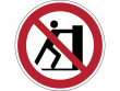 15: Verbotsschild - Schieben verboten (gemäß DIN EN ISO 7010)