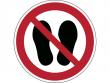 22: Verbotsschild - Betreten der Fläche verboten (gemäß DIN EN ISO 7010, ASR A1.3)