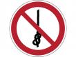 28: Verbotsschild - Knoten von Seilen verboten (gemäß DIN EN ISO 7010, ASR A1.3)