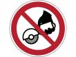 32: Verbotsschild - Nicht zulässig für Freihand- und handgeführtes Schleifen (gemäß DIN EN ISO 7010)